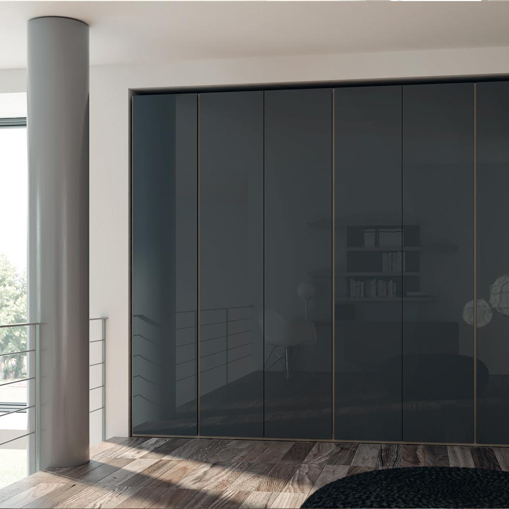 Armadio flat battente black camere da letto gambula - Arredamenti per camere da letto ...