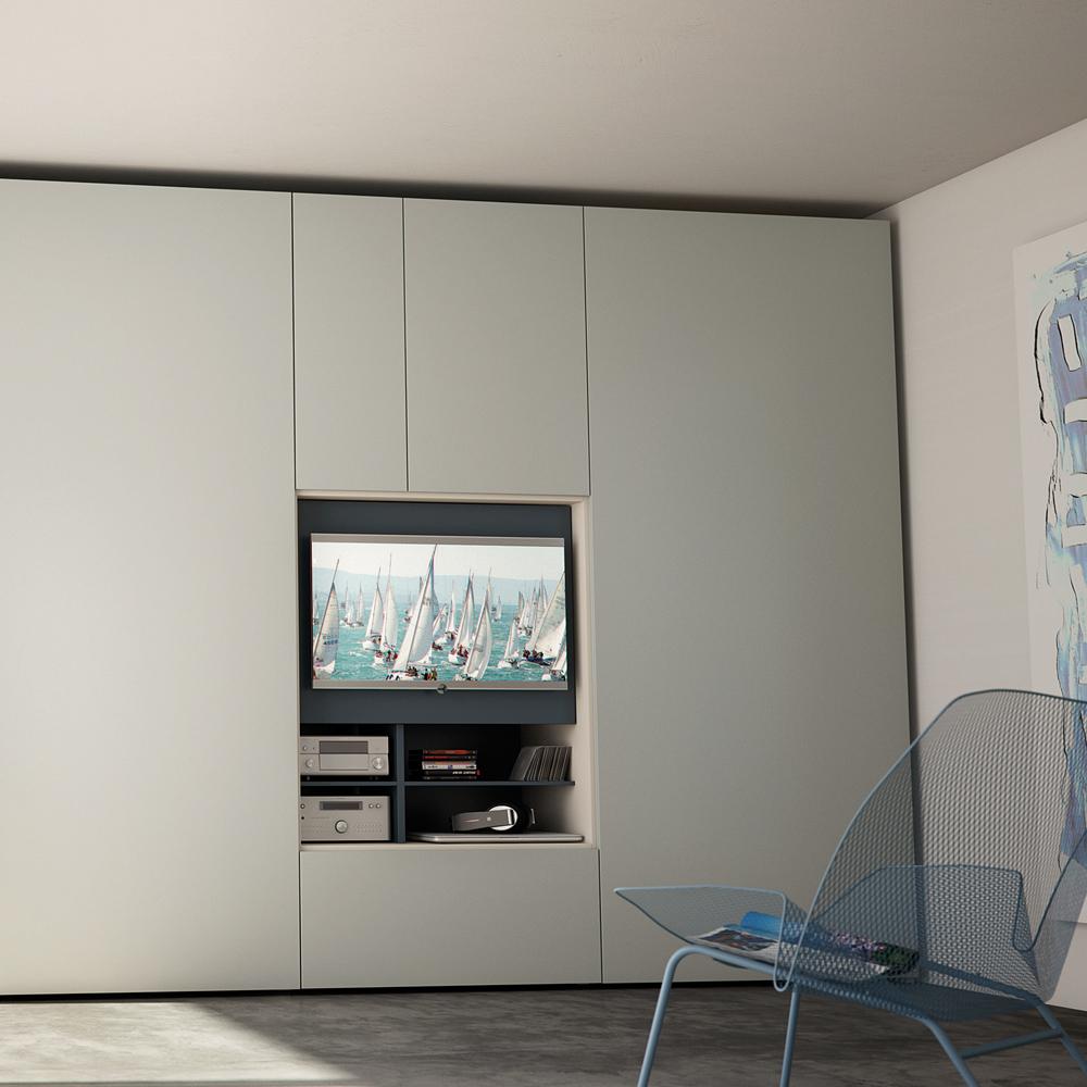 Armadio flat tv camere da letto gambula arredamenti gambula arredamenti - Arredamenti camere da letto ...