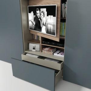 Dettaglio Armadio Flat Tv - Camere da letto - Gambula Arredamenti