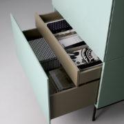 Dettaglio Cassetti - Mobile Brick Green - Living Room - Gambula Arredamenti