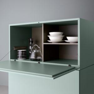 Dettaglio Mobile Brick Green - Living Room - Gambula Arredamenti