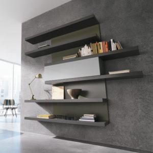 Parete Soggiorno Movida - Mensole Soggiorno Movida - Living Room - Gambula Arredamenti