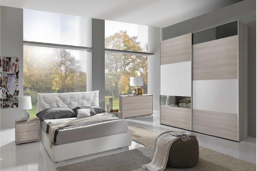Camera matrimoniale scorrevole cube gambula arredamenti for Illuminazione camera da letto matrimoniale