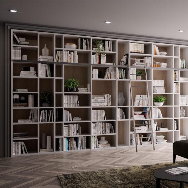 Libreria 5 Metri Con Scala | Gambula Arredamenti