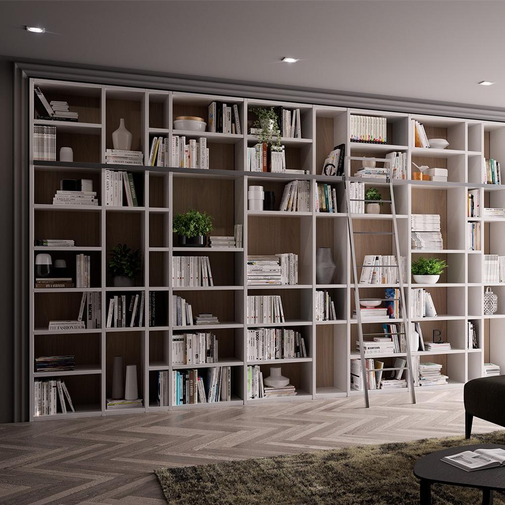 Libreria 5 metri con scala gambula arredamenti for Librerie di design a parete