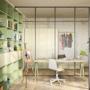 Camerette Nidi- Camera My Atelier Teens 2 - Gambula Arredamenti - Negozio di mobili e arredamento in Sardegna