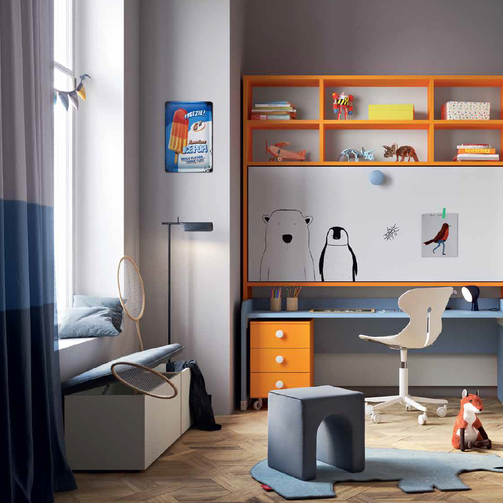 Arredamento cameretta fabulous minimalista dotolo mobili for Negri arredamenti camerette