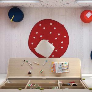 Camerette Nidi- Cameretta Space 2 Kids Dettaglio - Gambula Arredamenti - Negozio di mobili e arredamento in Sardegna