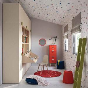 Camerette Nidi- Cameretta Space 2 Kids Panoramica - Gambula Arredamenti - Negozio di mobili e arredamento in Sardegna