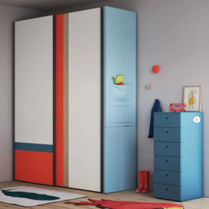 Camerette Nidi- Cameretta Space 3 Kids - Armadio - Gambula Arredamenti - Negozio di mobili e arredamento in Sardegna
