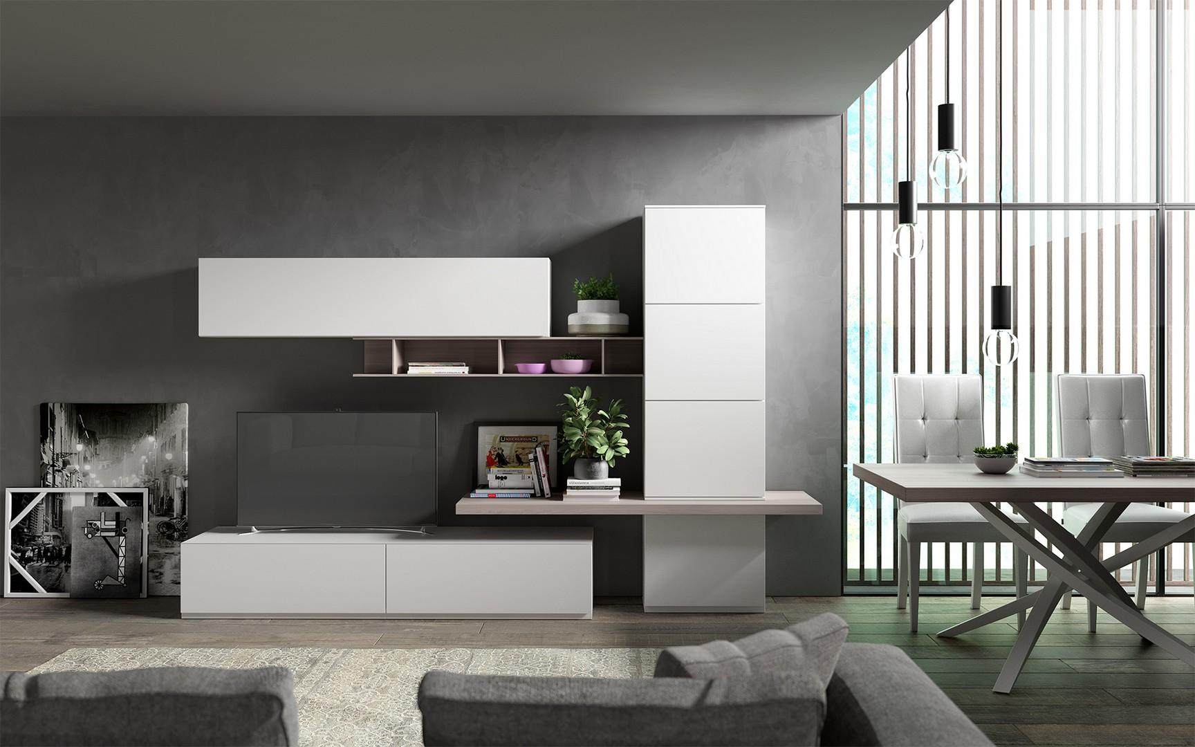 Parete minimal gambula arredamenti for Parete soggiorno minimal