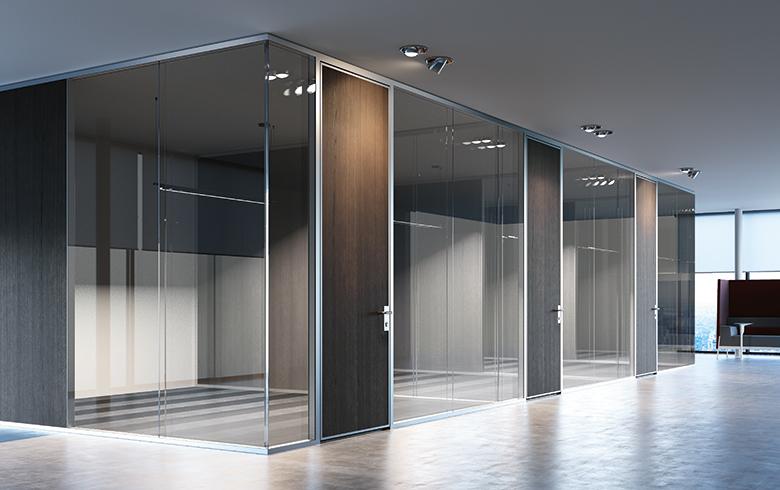 Ufficio parete divisoria k82 gambula arredamenti for Frezza arredamenti