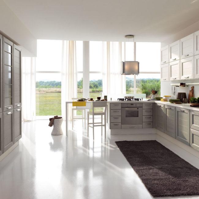 Cucine Lube - Cucine classiche - Claudia -1- Gambula Arredamenti - Negozio di arredamenti nel Sulcis Iglesiente