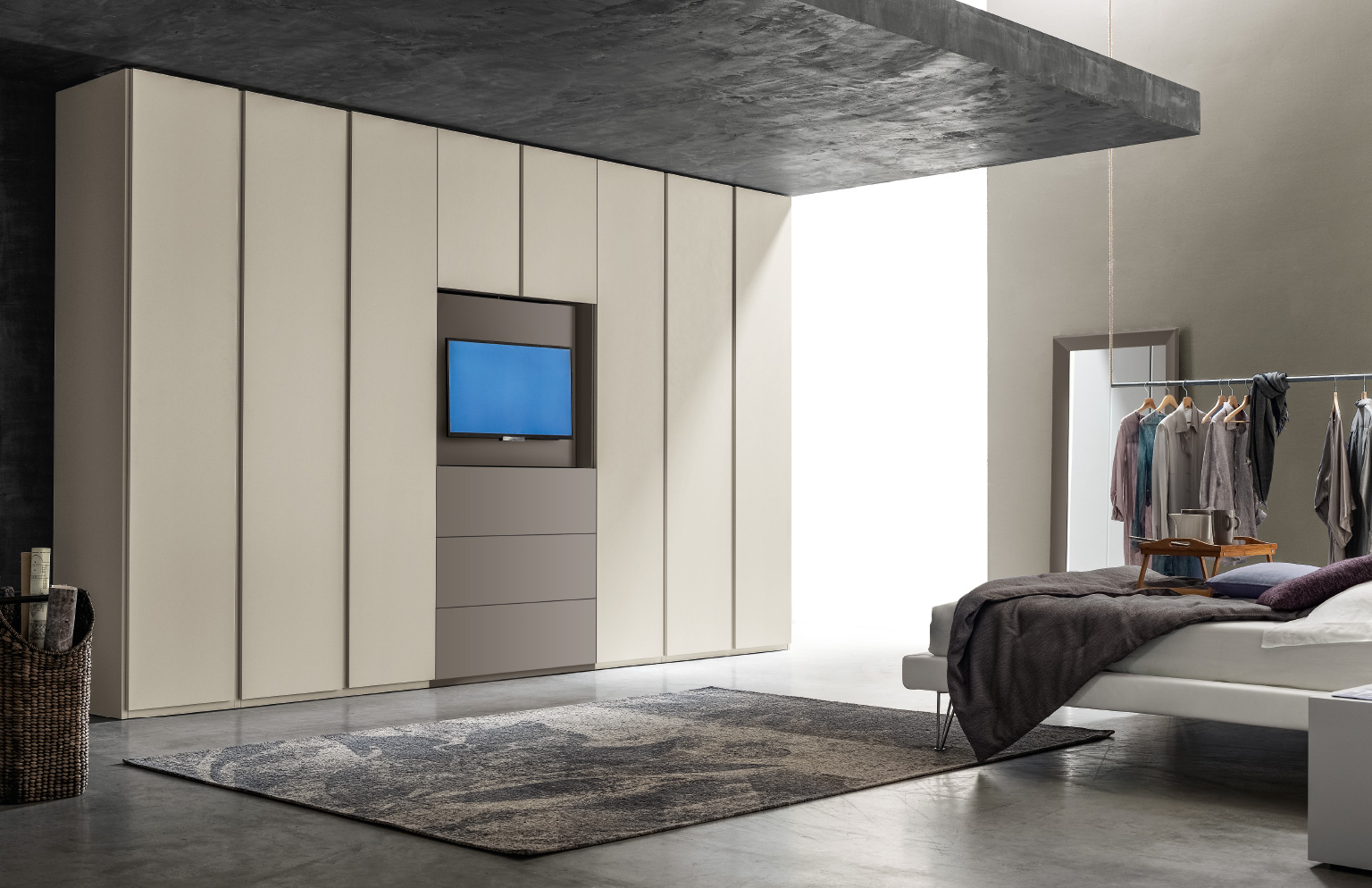 Armadio Camera Da Letto Con Tv.Santa Lucia Armadio Metal Con Porta Tv Gambula Arredamenti