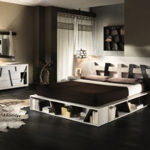 BORTOLI GAMBULA LETTO CROSS WHITE BLACK