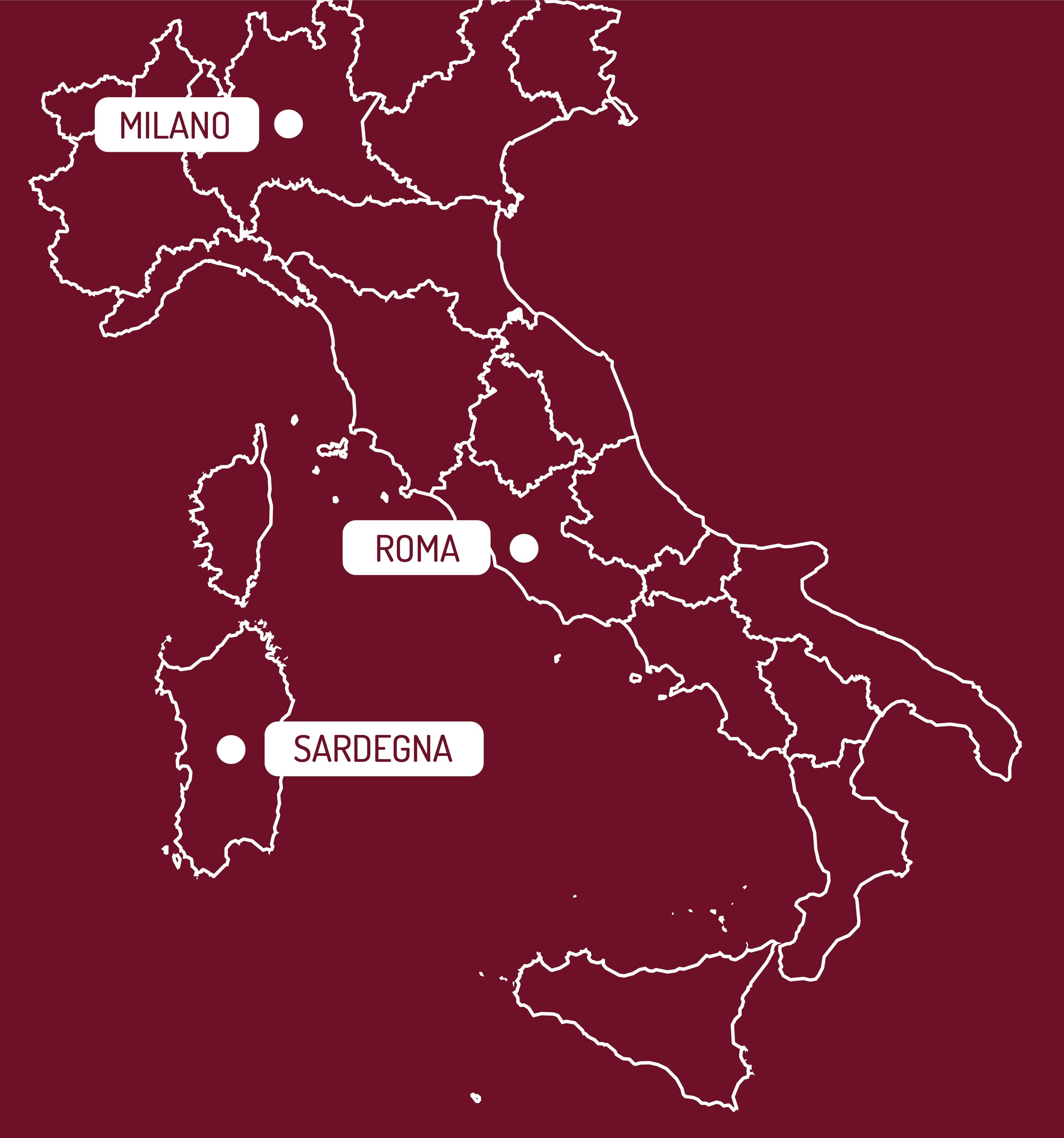 mappa Spedizioni Gambula Arredamenti